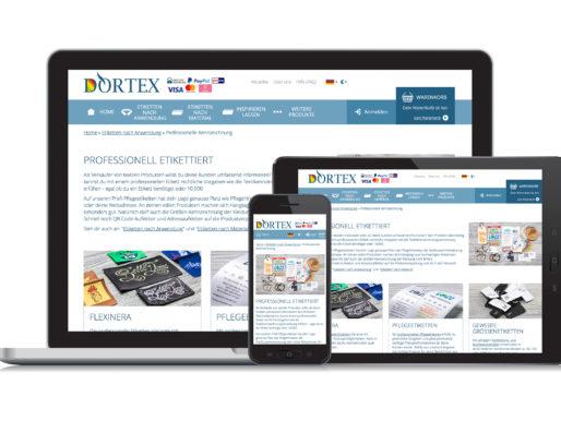 Neue Landingpage: DORTEX rüstet seinen Webshop auf
