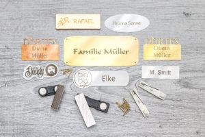 Etiketten aus Metall von DORTEX