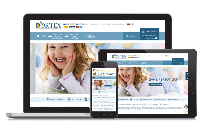 Der neue Webshop von DORTEX